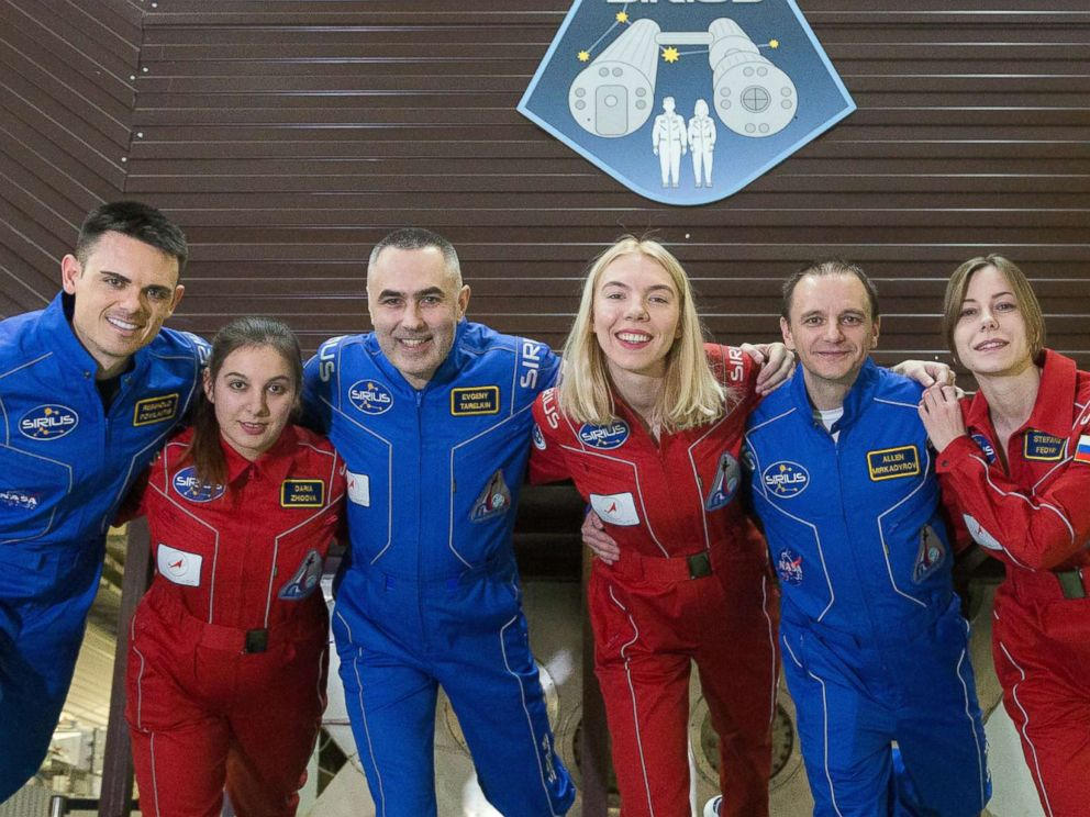PHOTO: The crew of SIRIUS-19 consists of Reynolds Polyvilatis, Daria Zidova, commander Evgeniy Tareklin, Anastasia Stepanova, Alan Mikadrirov and Stefania Fedaya.