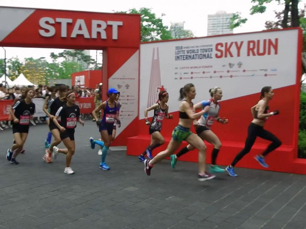 PHOTO: The Lotte World International Sky Run drew runners from the across the globe.