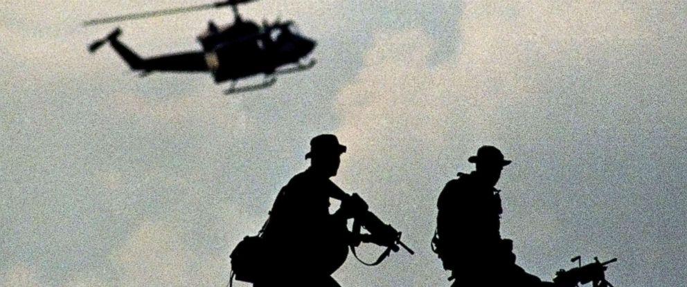 PHOTO: U.S. Marines establish security in the port of Mogadishou during an amphibious assault named Operation Restore Hope, Dec. 9, 1992.
