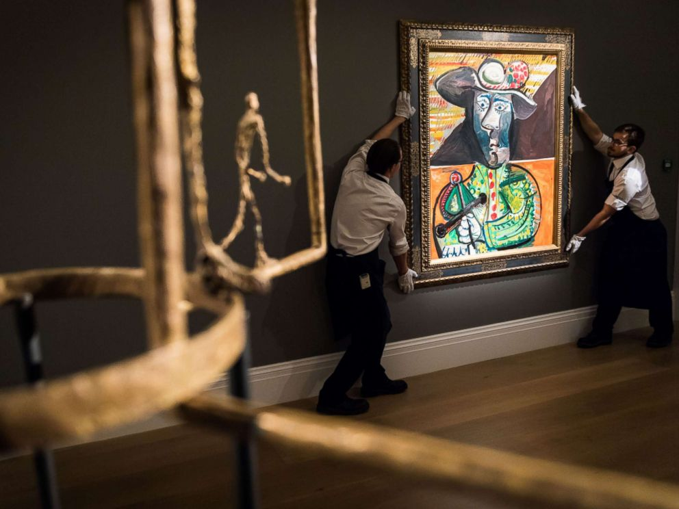 PHOTO: Pablo Picassos Le Matador is put on display before an auction dedicated to Impressionist artworks at Sothebys on Feb. 22, 2018 in London.