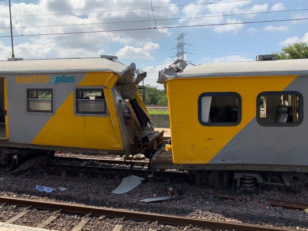 PHOTO: The site of a train crash is seen Pretoria, South Africa, Jan. 8, 2019.