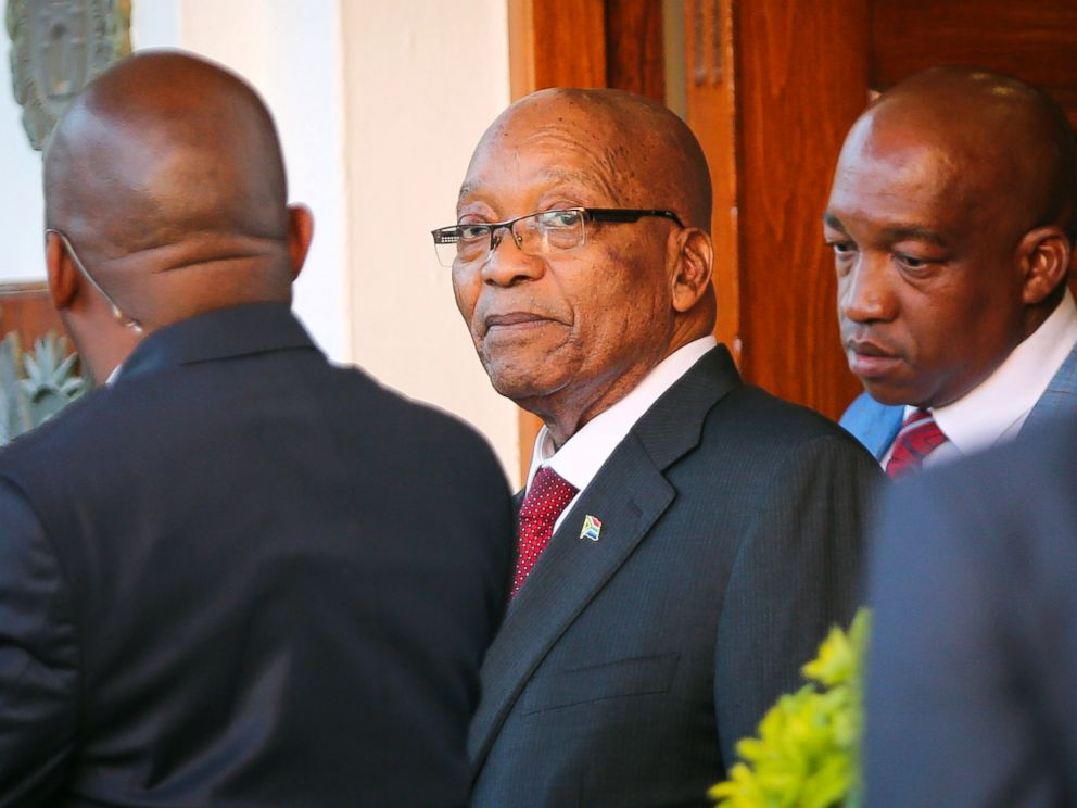 PHOTO: President Jacob Zuma leaves Tuynhuys, the office of the Presidency at Parliament in Cape Town, South Africa, Feb. 7, 2018.