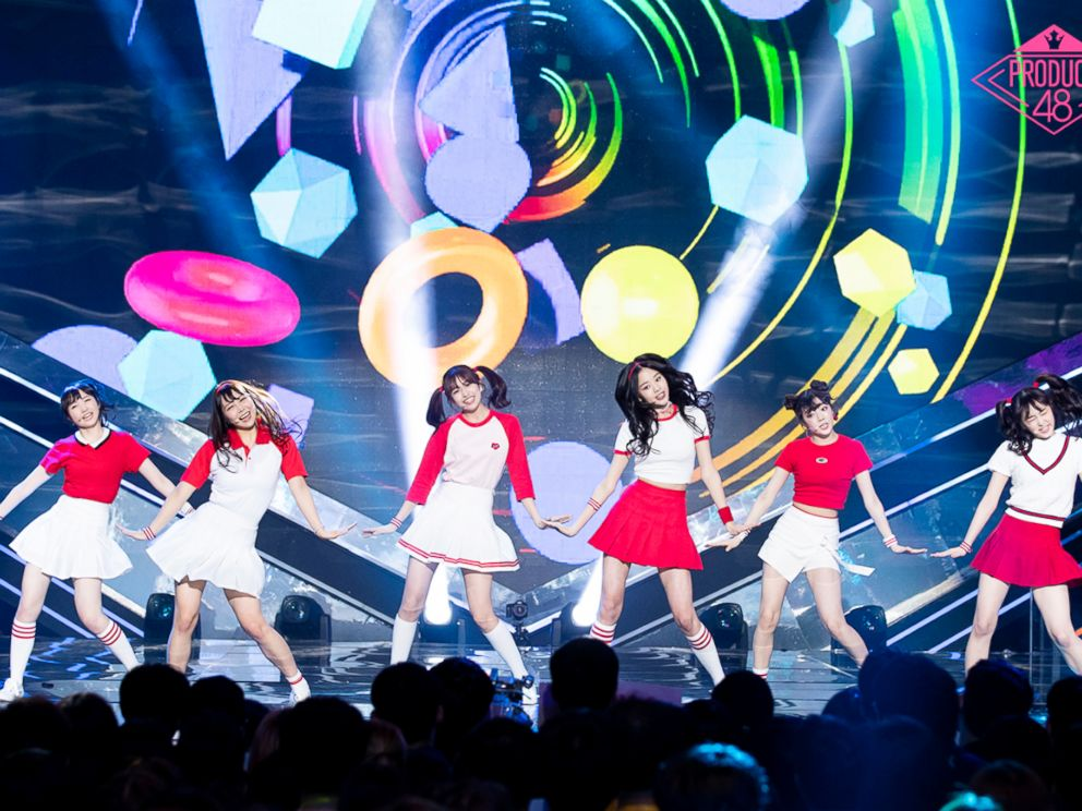 PHOTO: In South Koreas Produce 48 show, dozens of contestants compete for the chance to join a k-pop group.