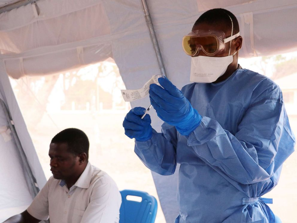 PHOTO: South Sudan begins vaccinating health workers and other front-line responders against Ebola virus disease, Jan. 28, 2019.