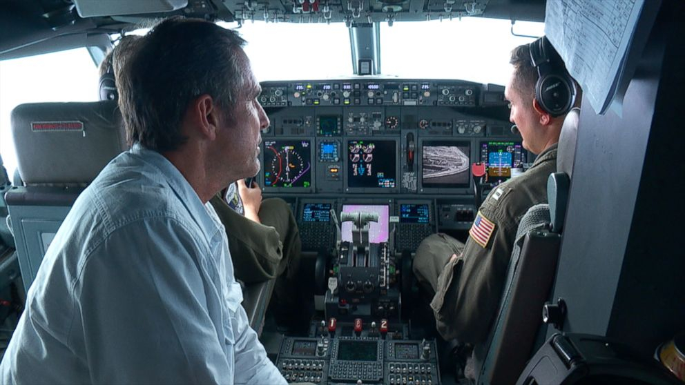 ABC News correspondent Bob Woodruff flew with the U.S. military over the South China Sea on Sep. 6, 2018.