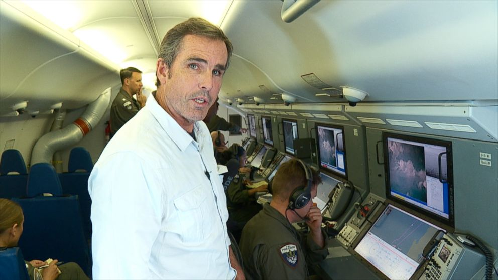 PHOTO: ABC News correspondent Bob Woodruff flew with the U.S. Navy Maritime Patrol Squadron Four over the South China Sea on Sep. 6, 2018.
