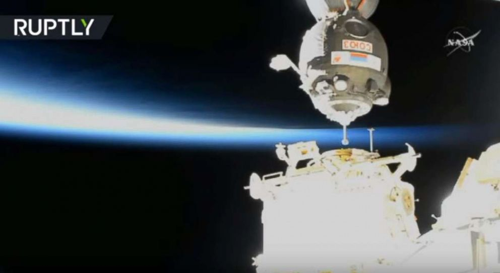 Astronauts plug hole in Space Station with thumb