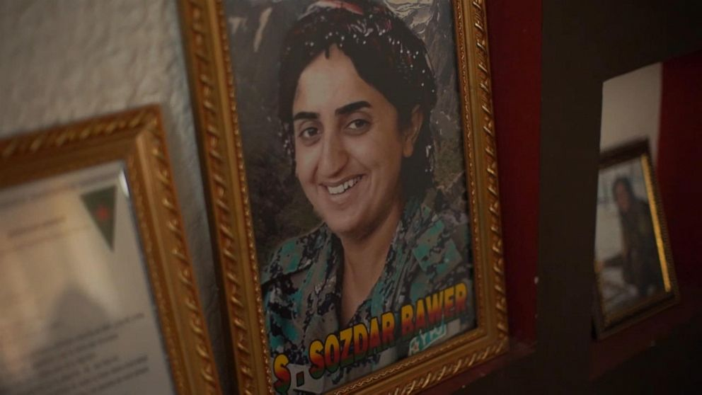 PHOTO: ABC News met with Sozdars relatives in al-Malikiyah, where the family keeps a shrine to her in its home.