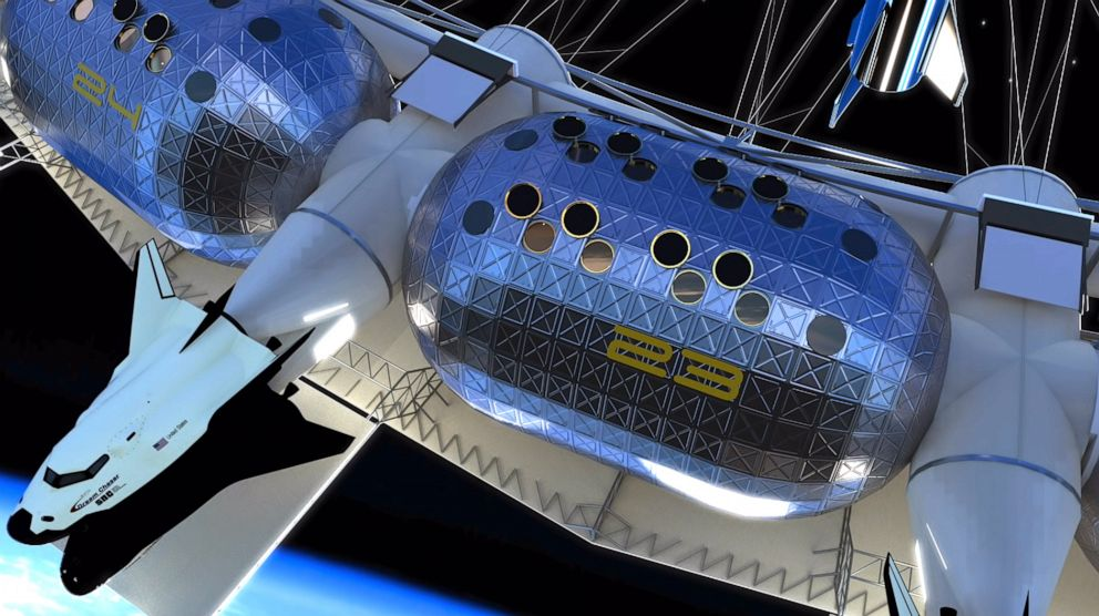 PHOTO: The proposed Von Braun Rotating Space Station would be the first space hotel.