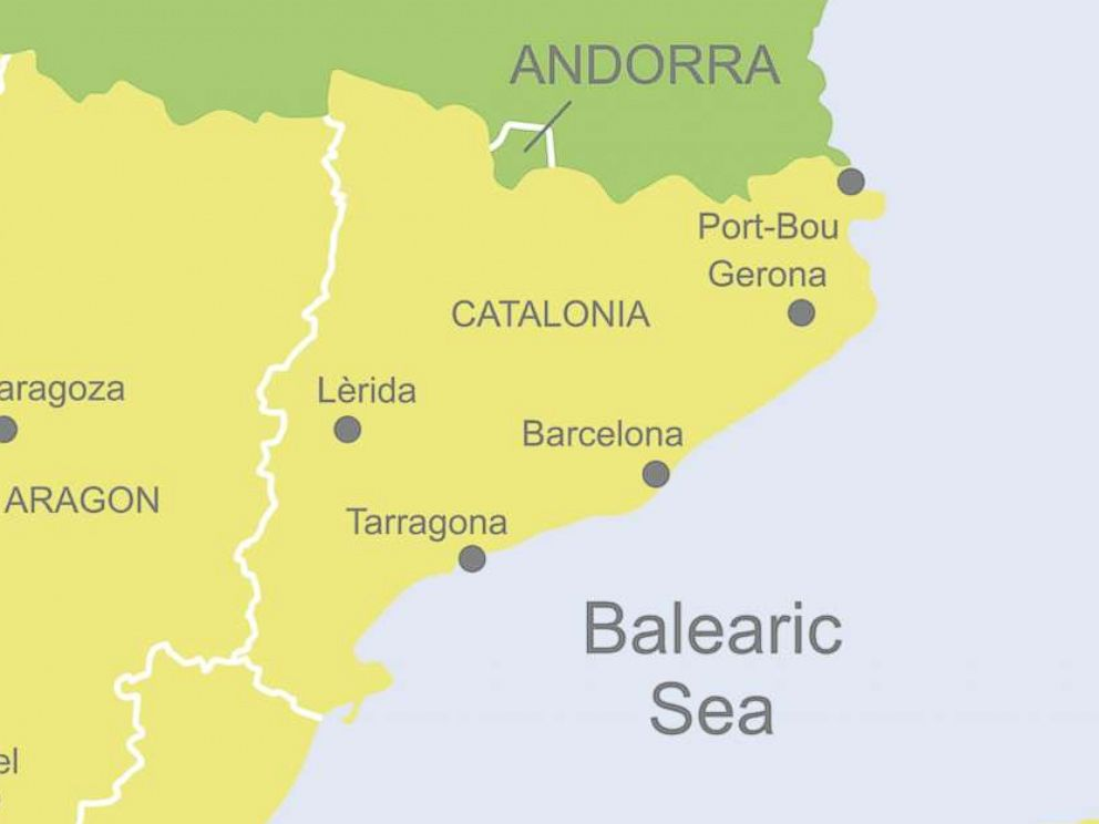 World Map Catalonia. PHOTO  Detailed map of Spain showing Catalonia What you need to know about the Catalan independence referendum