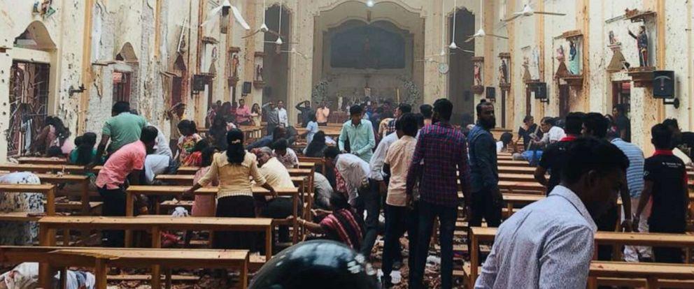 PHOTO: An explosion rocked St. Sebastians Church in Negombo, Sri Lanka, on Sunday, April 21, 2019.