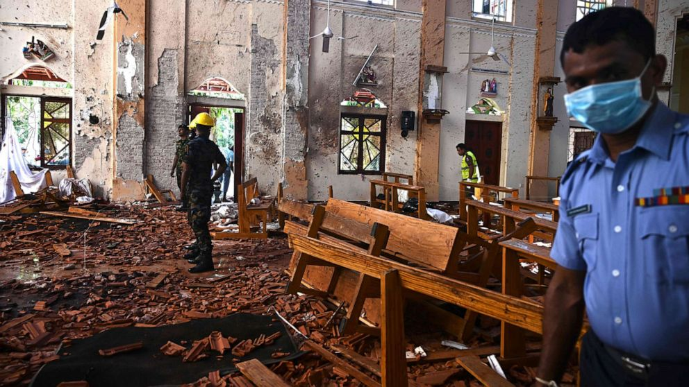 ISIS claims responsibility for Sri Lanka Easter bombings that killed over 300