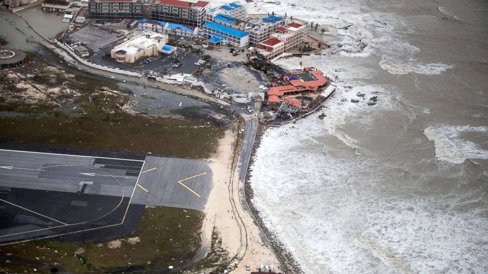 st martin s famous airport badly damaged by hurricane