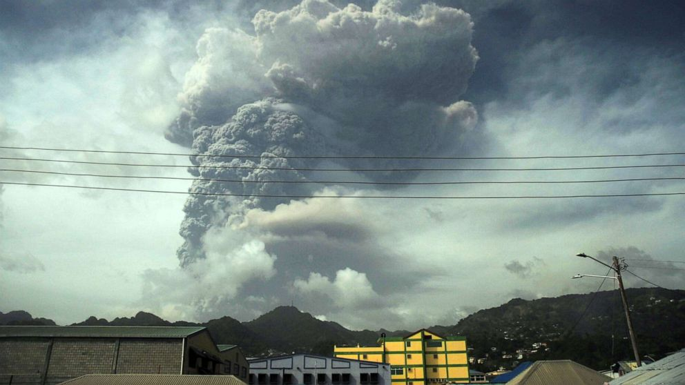 St. Vincent covered in ash as volcano activity continues – ABC News