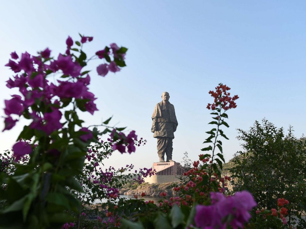 PHOTO: The Statue Of Unity, the worlds tallest statue dedicated to Indian independence leader Sardar Vallabhbhai Patel, stands overlooking the Sardar Sarovar Dam near Vadodara in Indias western Gujarat state, Oct. 30, 2018.