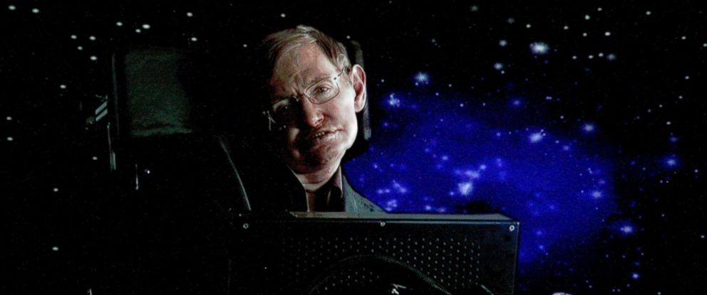 PHOTO: Scientist Stephen Hawking speaks via satellite during the Science Channel portion of the 2010 Television Critics Association Press Tour, Jan. 14, 2010 in Pasadena, Calif.
