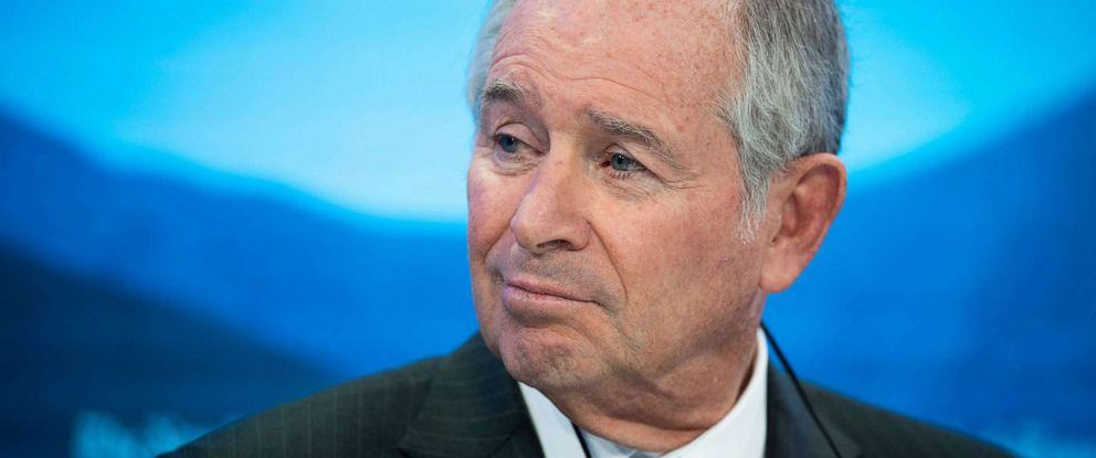 PHOTO:Stephen A. Schwarzman, Chairman, Chief Executive Officer and Co-Founder, Blackstone, pictured during a panel session on the first day of the 49th annual meeting of the World Economic Forum in Davos, Switzerland in this Jan. 22, 2019 file photo.