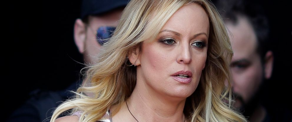 "PHOTO: Adult film actress Stormy Daniels arrives for the opening of the adult entertainment fair ""Venus,"" in Berlin, Oct. 11, 2018."