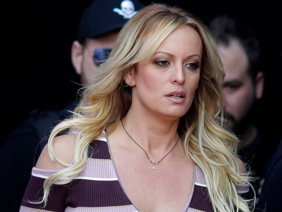 PHOTO: Adult film actress Stormy Daniels arrives for the opening of the adult entertainment fair Venus, in Berlin, Oct. 11, 2018.