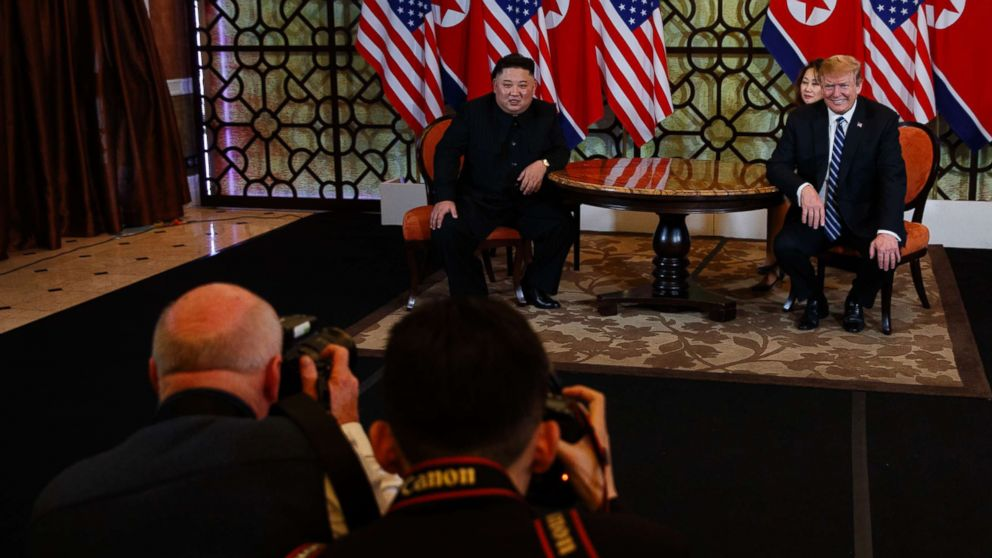 President Donald Trump meets North Korean leader Kim Jong Un, Feb. 28, 2019, in Hanoi, Vietnam.