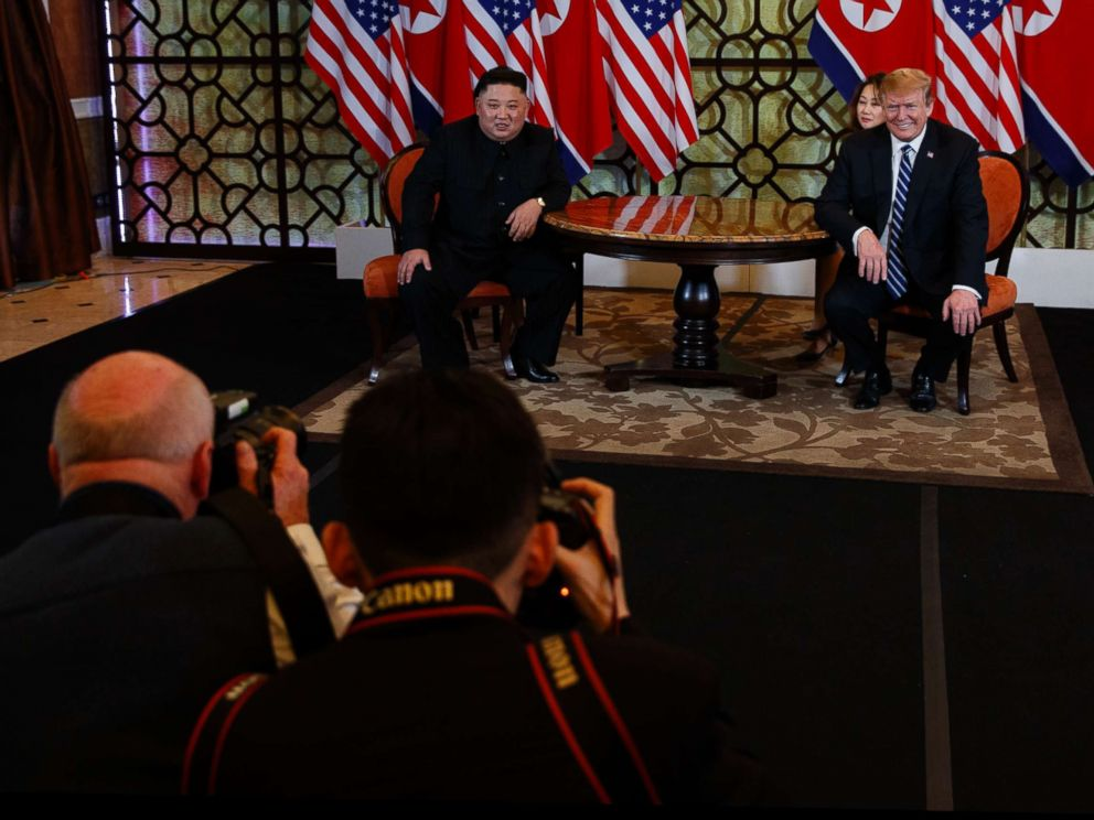 PHOTO: President Donald Trump meets North Korean leader Kim Jong Un, Feb. 28, 2019, in Hanoi, Vietnam.