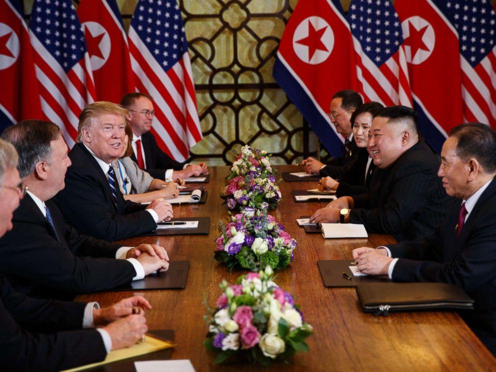 PHOTO: President Donald Trump meets North Korean leader Kim Jong Un, Feb. 28, 2019, in Hanoi, Vietnam.