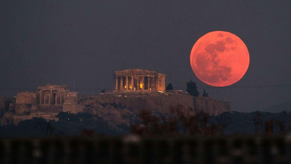 Super blue blood moon: Spectacular views of rare celestial event ...