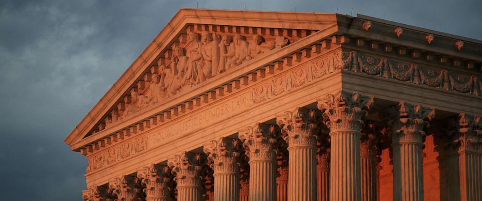 PHOTO: In this Oct. 4, 2018, file photo, The U.S. Supreme Court is seen at sunset in Washington, D.C.