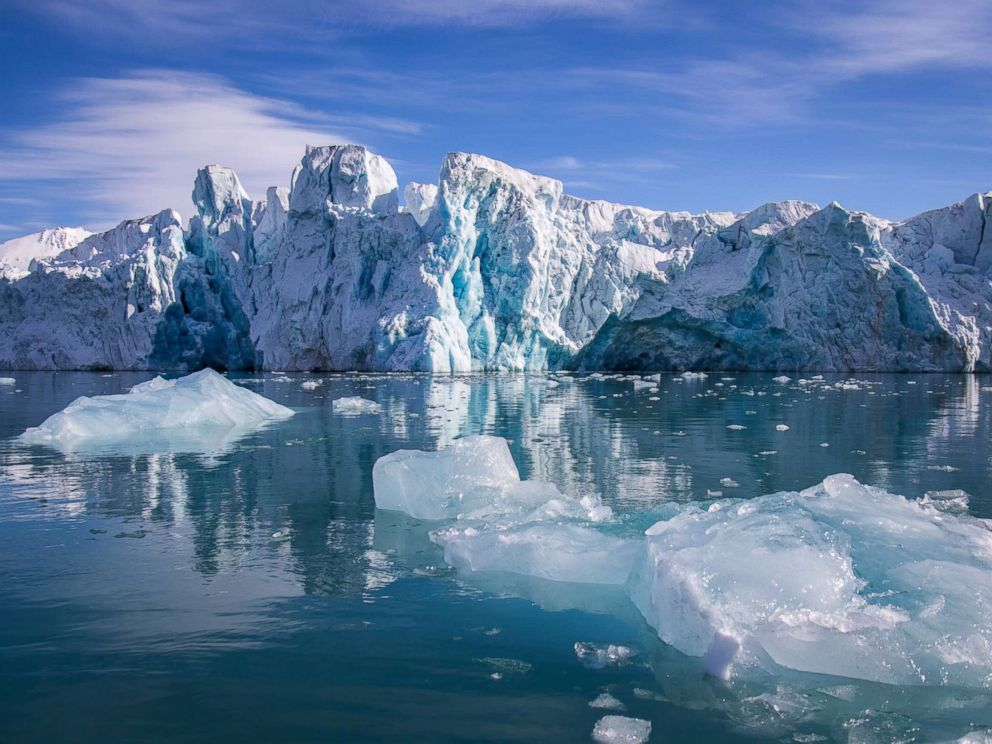 PHOTO: A glacier is seen in Svalbard, Norway this stock photo.