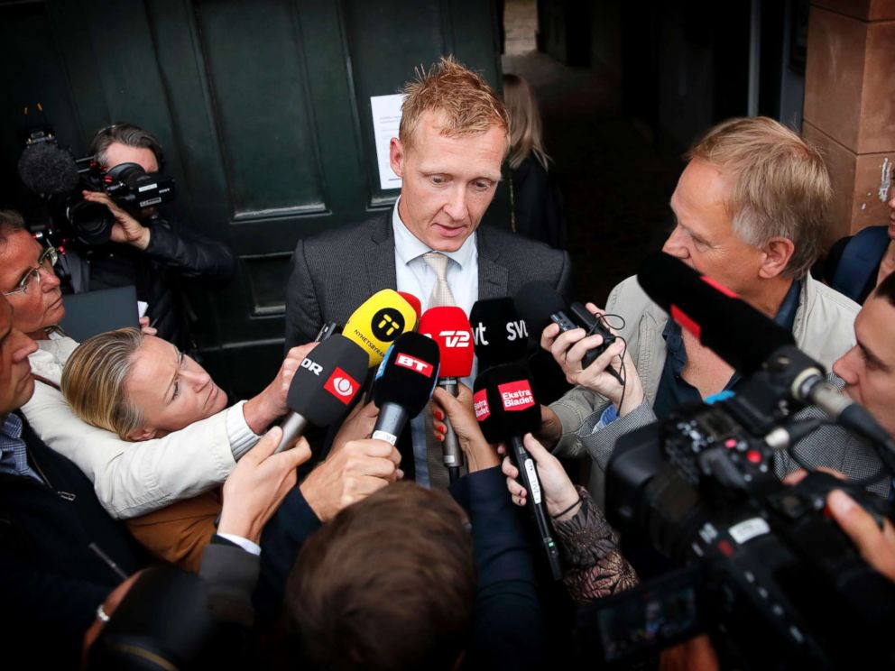 PHOTO: Prosecutor Jakob Buch-Jepsen addresses the media in front of the District Court of Copenhagen, Sept. 5. 2017. A Danish judge has extended the detention of Peter Madsen, the inventor suspected in the death of Swedish freelance journalist Kim Wall.