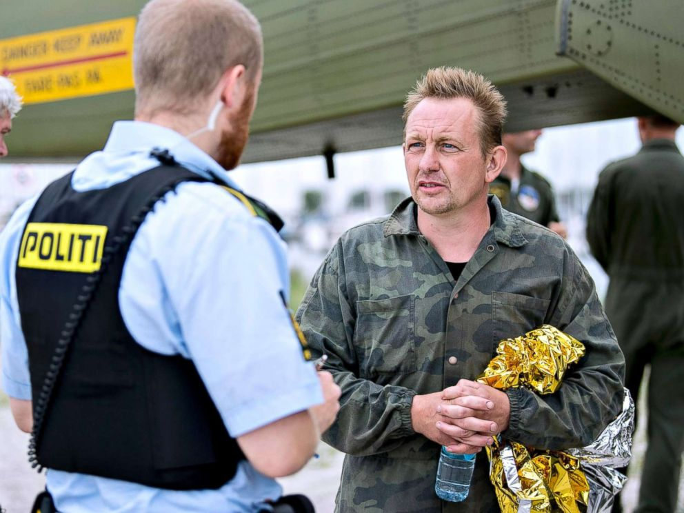 PHOTO: Peter Madsen, shown in this file photo taken on August 11, 2017, is suspected in the death of Kim Wall, a Swedish journalist whose headless torso was recovered days after her disappearance while writing a feature story about Madsen.
