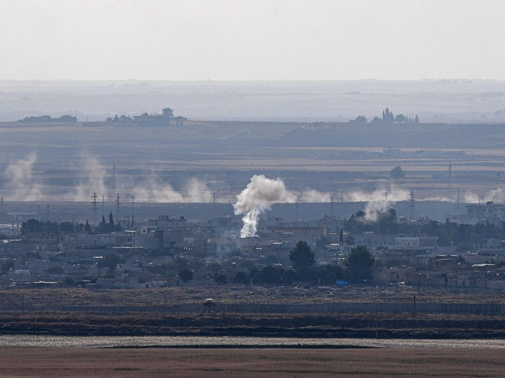 PHOTO: This picture taken on October 18, 2019 from the Turkish side of the border in Ceylanpinar shows smoke rising from the Syrian town of Ras al-Ain on the first week of Turkeys military operation against Kurdish forces.
