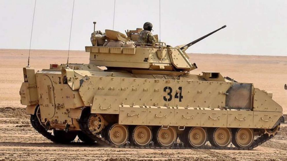 US armored vehicles, infantry troops arrive in eastern Syria to guard oil facilities