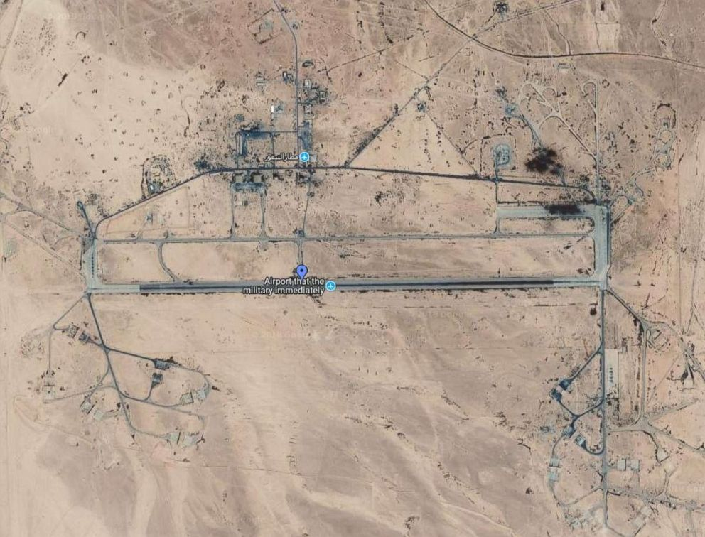 PHOTO: A map showing Tiyas airbase in Homs, Syria, in this undated photo.