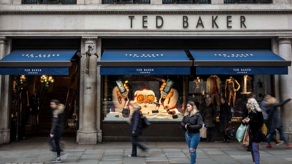 A branch of Ted Baker stands on Regent Street, Dec. 6, 2018, in London.