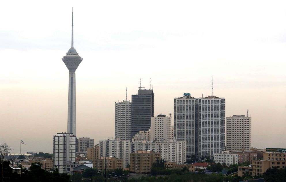 PHOTO: A view of the Iranian capital Tehran and its Milad Tower, May 9, 2018.