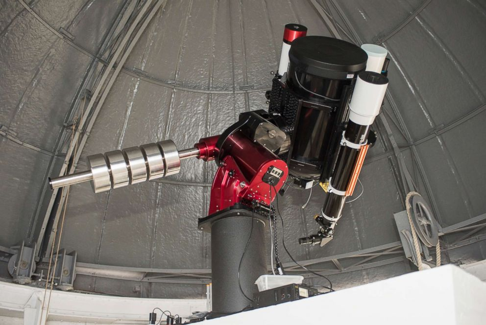 PHOTO: The Royal Observatory Greenwich in London has installed a new telescope, named after Annie Maunder, one of the first female scientists ever to work at the ROG.  Astronomers at famed Greenwich observatory turn eyes to the skies again after 60-year break telescope ht ml 180625 hpEmbed 3x2 992