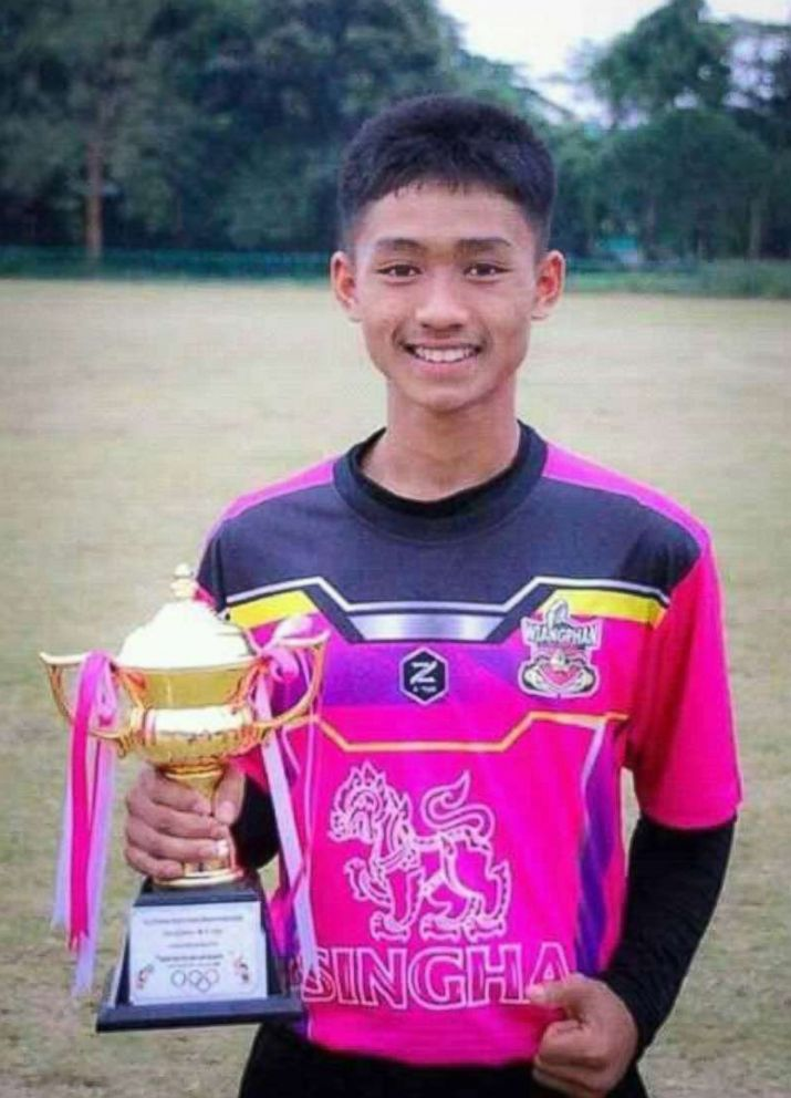 Adul Samon, 14, of Thai youth soccer team Wild Boars is pictured in this undated Facebook photo.
