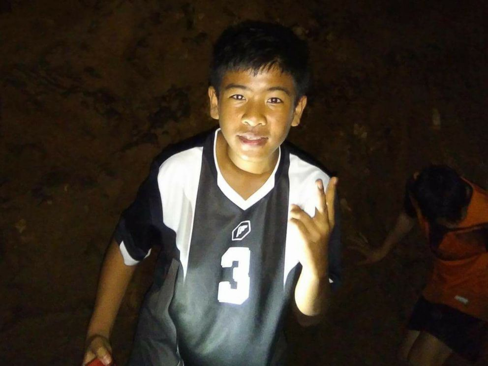 Eakkarat Wongsukchan, 14, of Thai youth soccer team Wild Boars is pictured in this undated Facebook photo.