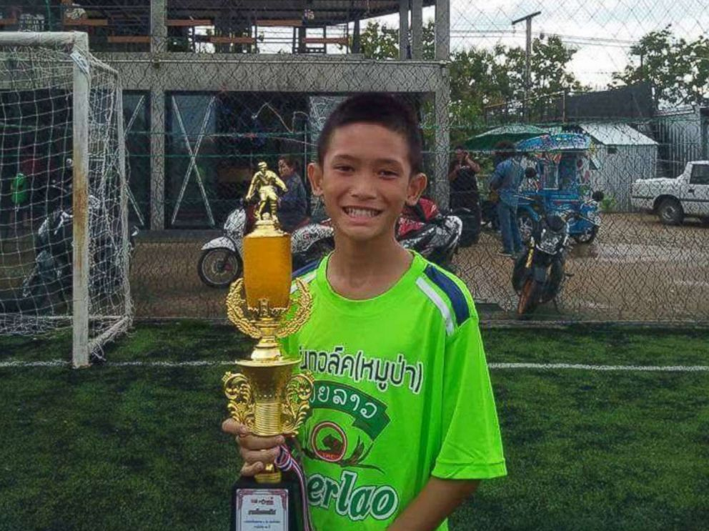 Monkol Boonbiam, 13, of Thai youth soccer team Wild Boars is pictured in this undated Facebook photo.