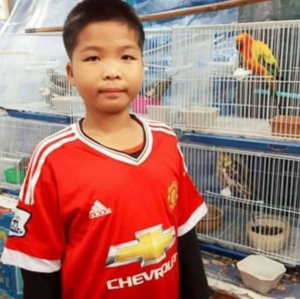 PHOTO: Panumat Sangdee, 13, of Thai youth soccer team Wild Boars is pictured in this undated Facebook photo.