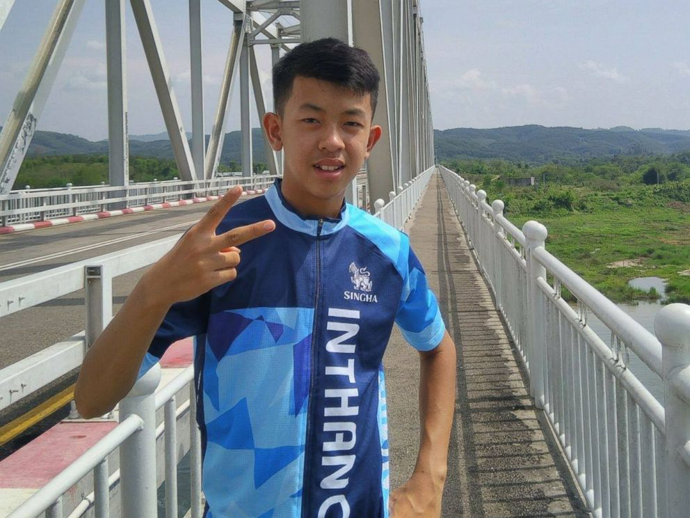 Ponchai Kumluang, 16, of Thai youth soccer team Wild Boars is pictured in this undated Facebook photo.