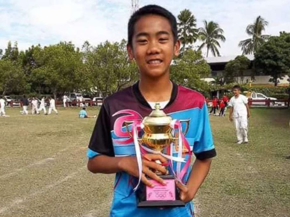 Prajak Sutham, 14, of Thai youth soccer team Wild Boars is pictured in this undated Facebook photo.