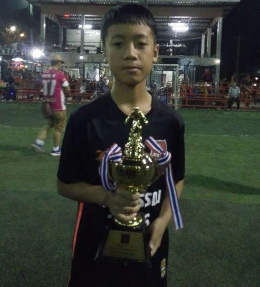 Songpong Jaiwong, 13, of Thai youth soccer team Wild Boars is pictured in this undated Facebook photo.