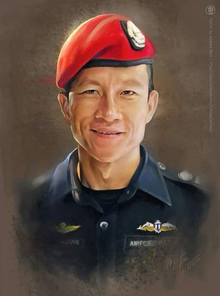 PHOTO: The Royal Thai Navy released this image of a former member who died while working as a volunteer rescuer in the operation to save the boys soccer team trapped inside a cave in Chiang Rai province, Thailand, July 6, 2018.