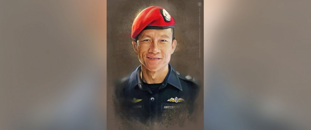 PHOTO: The Royal Thai Navy released this image of a former member Saman Gunan, who died while working as a volunteer rescuer in the operation to save the boys soccer team trapped inside a cave in Chiang Rai province, Thailand, July 6, 2018.