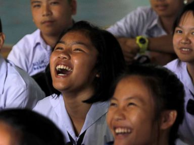 Classmates of boys trapped in cave pray for complete success of rescue mission
