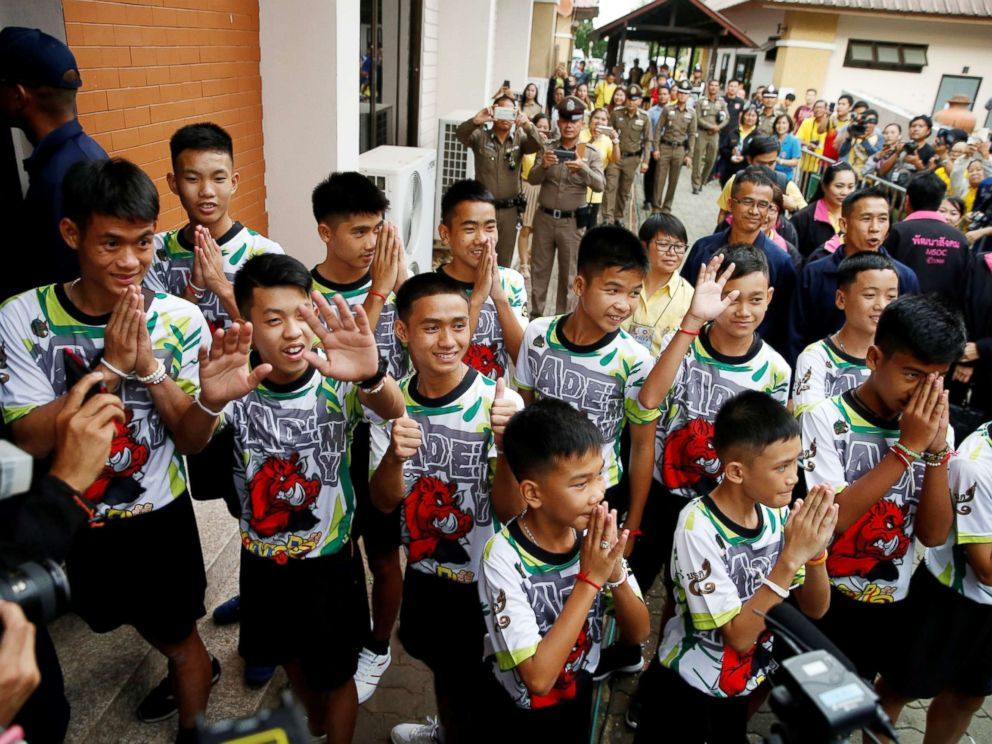 Boys rescued from Thailand cave leave hospital Thailand-soccer-5-rt-ml-180718_hpMain_4x3_992
