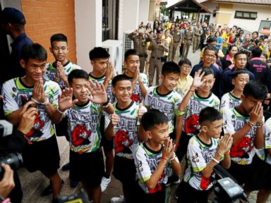 Rescued boys explain how they survived in cave for 2 weeks