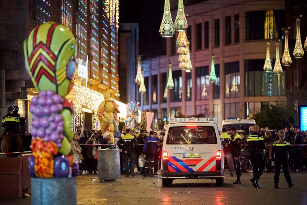 PHOTO: Dutch police block a shopping street in The Hague, Netherlands, Nov. 29, 2019.